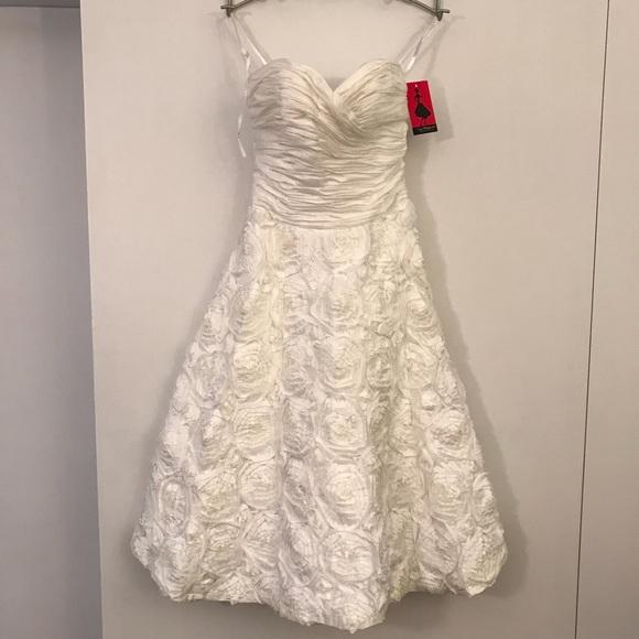 Unique Vintage Dresses | Nwt Tea Length Prom Or Simple Wedding Dress ...